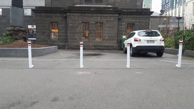 Parking Space with white bollard