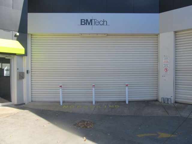 BMTech with First Choice White Bollard