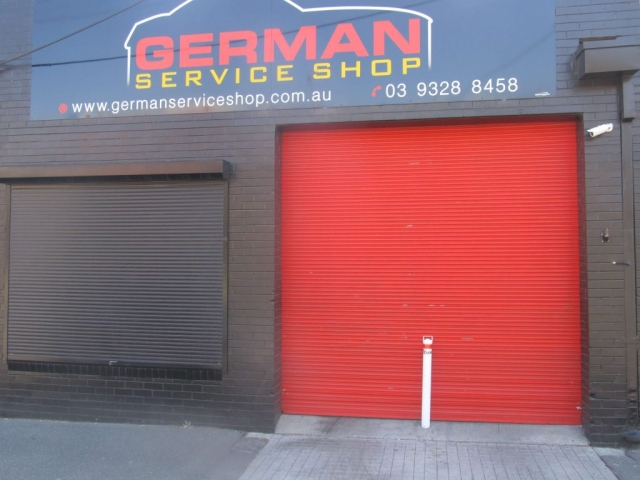 German Service Shop with First Choice White Bollard