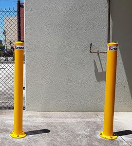 Yellow bollards