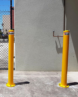 Yellow removable bollard Australia
