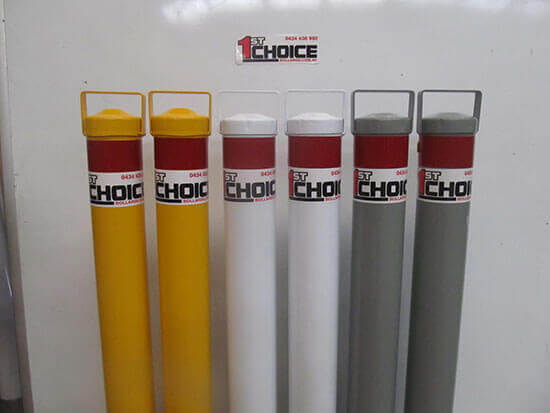 Permanent Bollards - image Custom-colours on https://firstchoicebollards.com.au