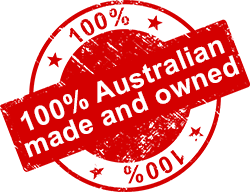100% Australian Made and Owned Badge